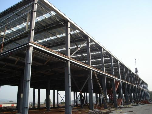 成都鑫博宏润钢结构厂房施工