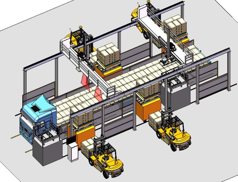 双桁架机器人装车机