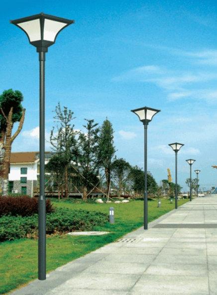 成都小区庭院灯如何正确的安装?