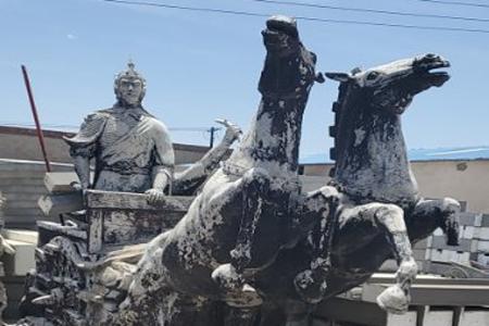 景观雕塑厂区