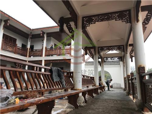 四川泸县私人庭院木装饰