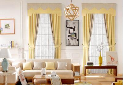 给大家介绍几类布艺窗帘的配搭方式吧