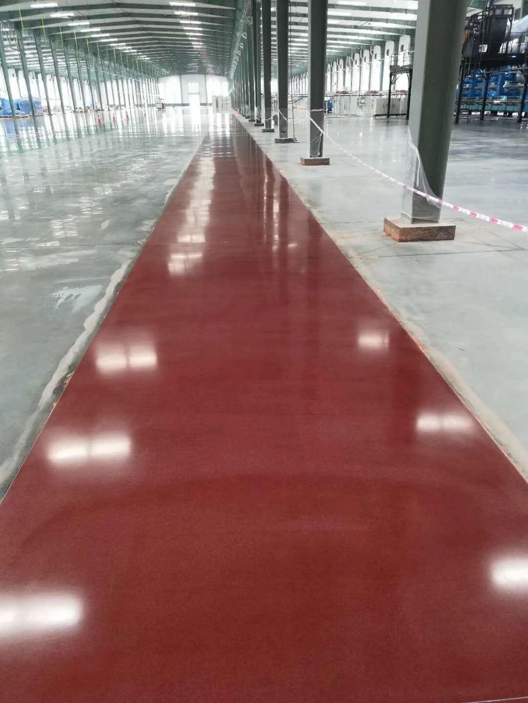 河南彩色固化剂染色混凝土地坪设计