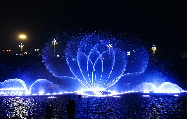 四川眉山音乐喷泉施工案例