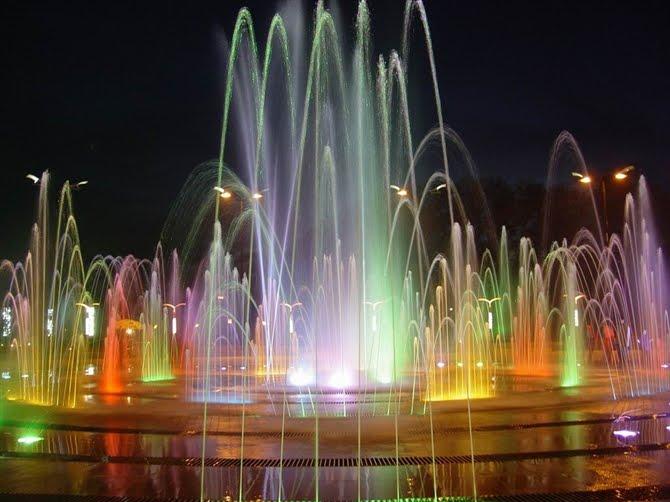 使用四川旱式喷泉进行造景能带来什么样的效果