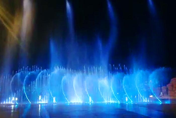 四川涼山廣場旱式音樂噴泉工程