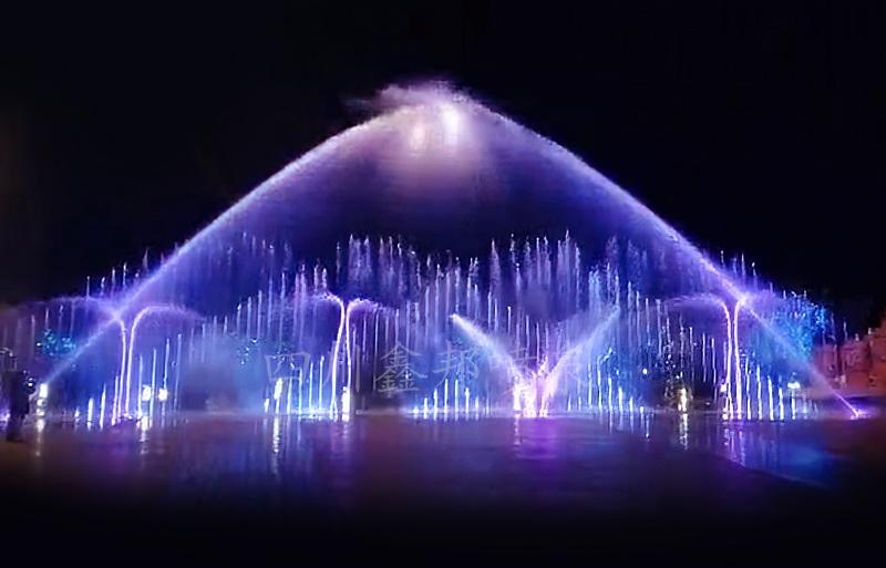 旱式音乐喷泉,开启文旅夜游欢乐模式