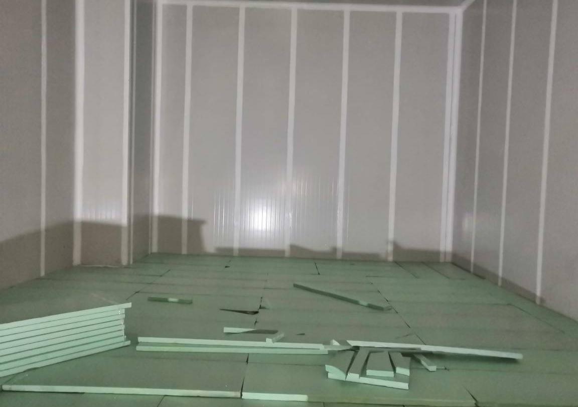 地面挤塑板错缝铺设
