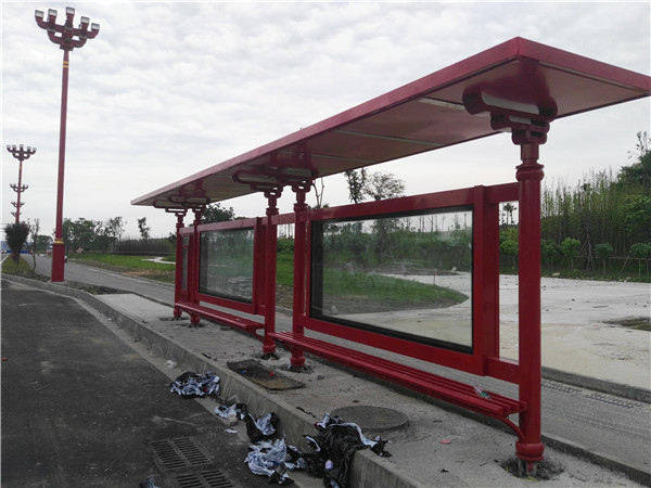 眉山公交站台灯箱