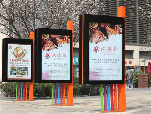 四川广告灯箱展示案例