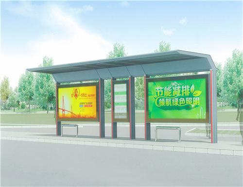 成都公交站亭