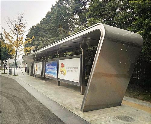 四川公交站臺案例