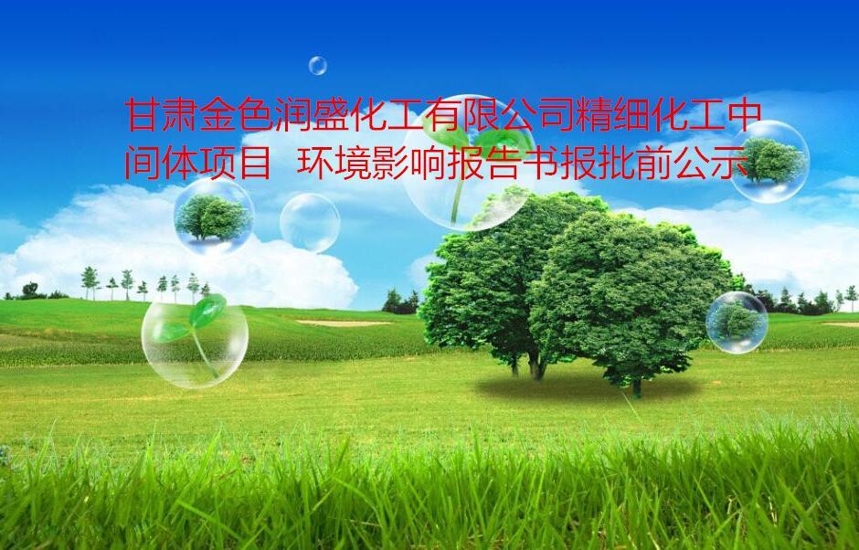 甘肅金色潤盛化工有限公司精細化工中間體項目  環境影響報告書報批前公示