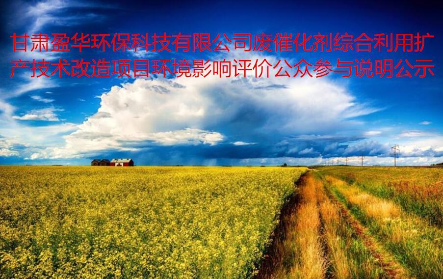 甘肃盈华环保科技有限公司废催化剂综合利用扩产技术改造项目  环境影响评价公众参与说明公示