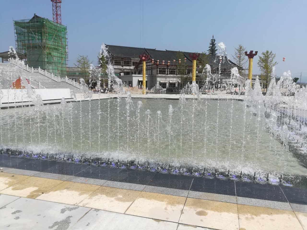 洋县三馆广场升降舞台音乐喷泉