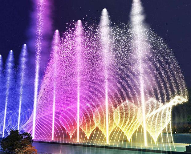 四川音乐喷泉原来还可以用声音来控制呀