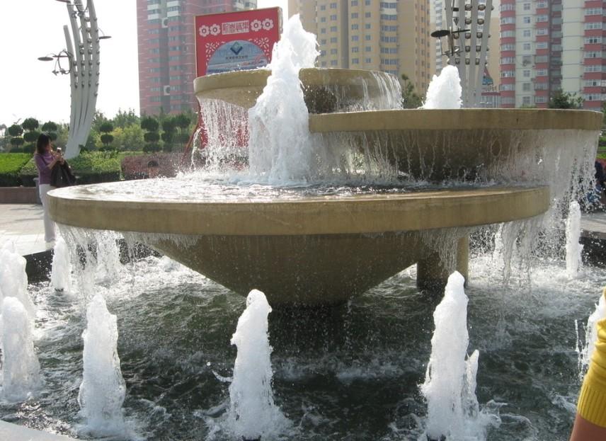 喷泉安装效果图