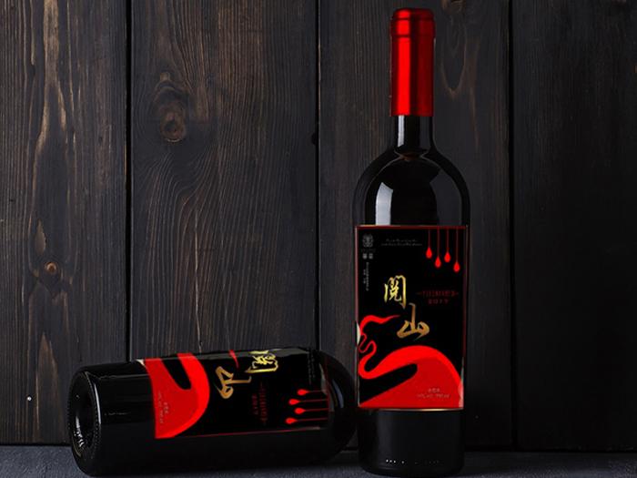 宁夏阅山红红酒