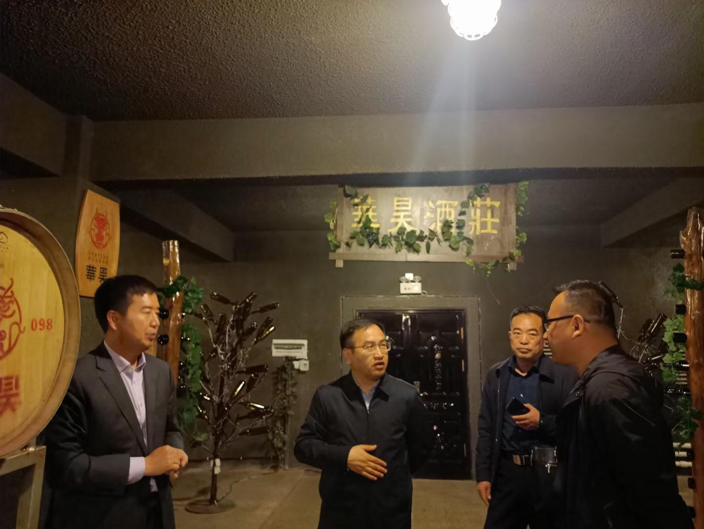 青铜峡市委副书记及市长一行人来到华昊酒庄调研葡萄产业