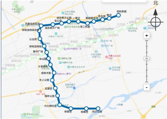 地铁2号线全线图