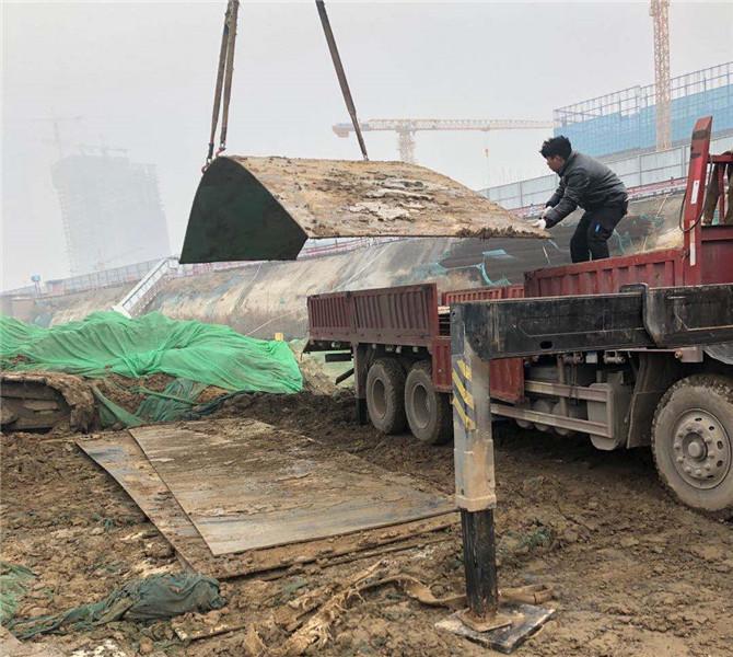 郑州钢板租赁施工案例