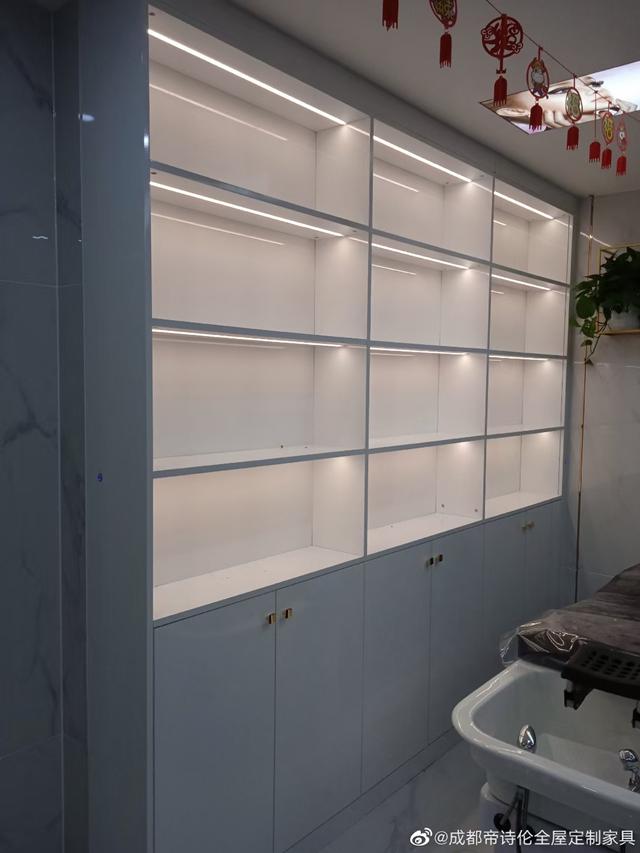 某理发店成都定制家具完工案例