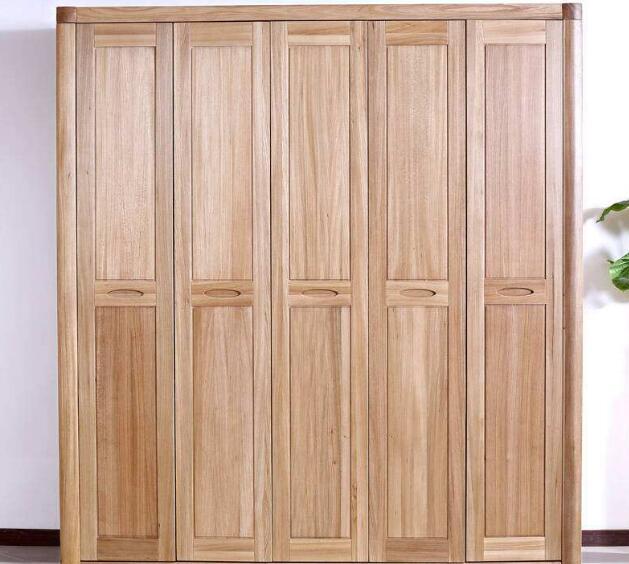 实木平板衣柜展示