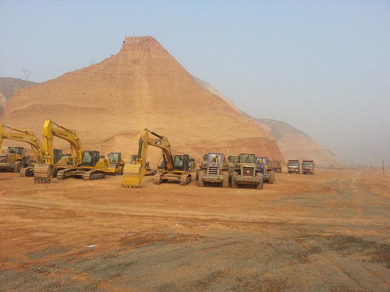 甘肅某高速土建12標施工現場