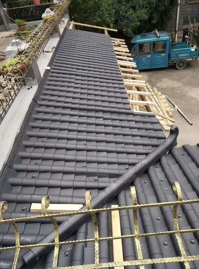 陕西农村房顶装饰瓦