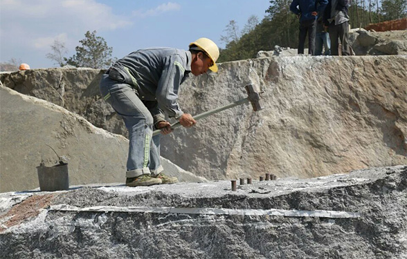 冰花兰石材1号采矿点