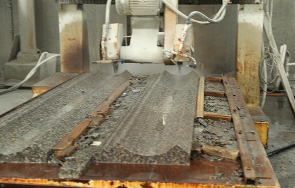 豹皮花石材方料线条加工和成品