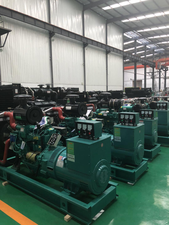 发电机组产品陈列区