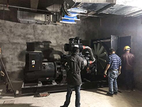 600KW上海申動發電機-溫江鵬程小學項目