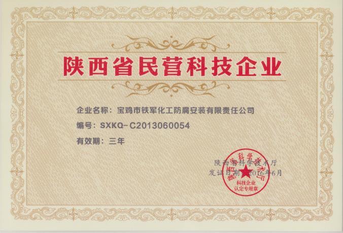 陕西民营科技企业