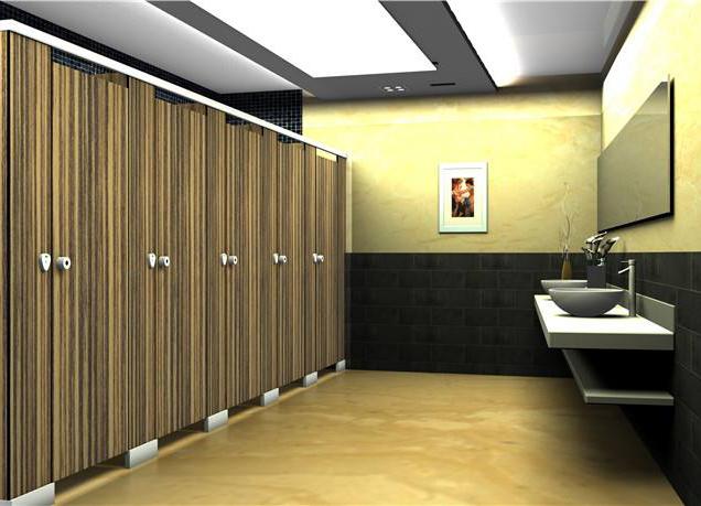 成都卫生间隔断板材与五金配件的选择
