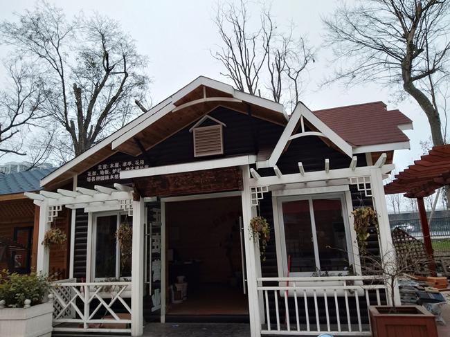防腐木木屋安装完工展示