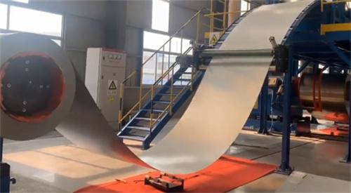 单面不锈钢聚氨酯冷库板的生产流程