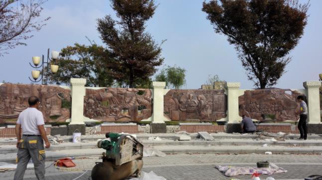 锻铜雕塑施工