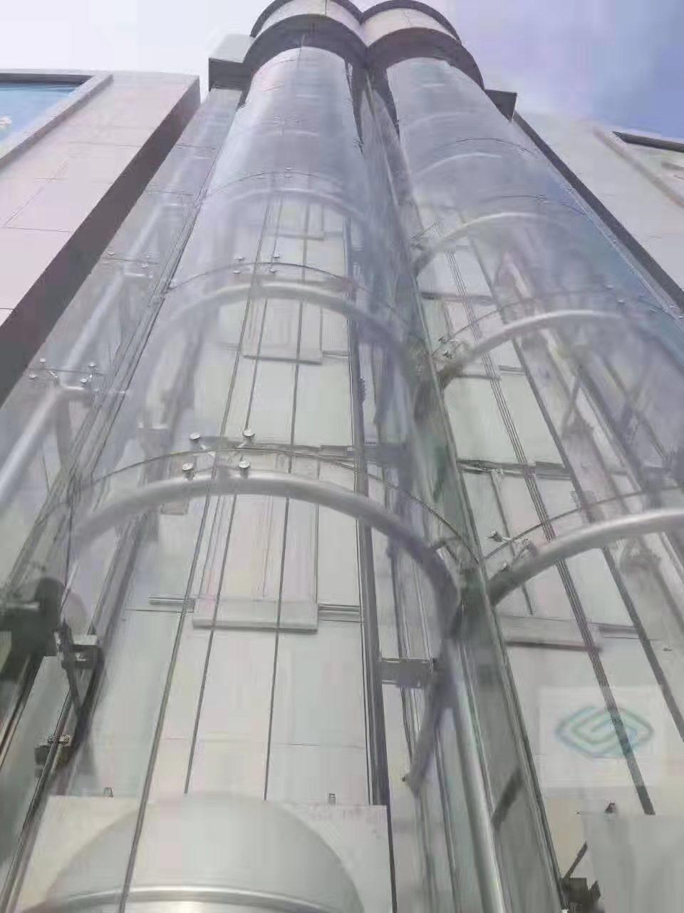 张家口商场电梯玻璃经典案例
