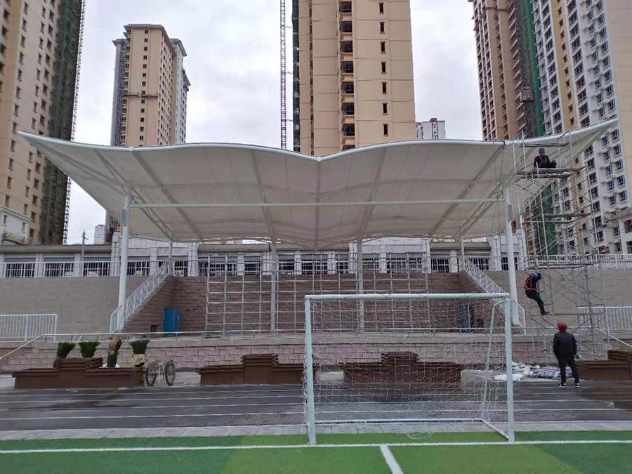 榆中六中体育场看台膜结构