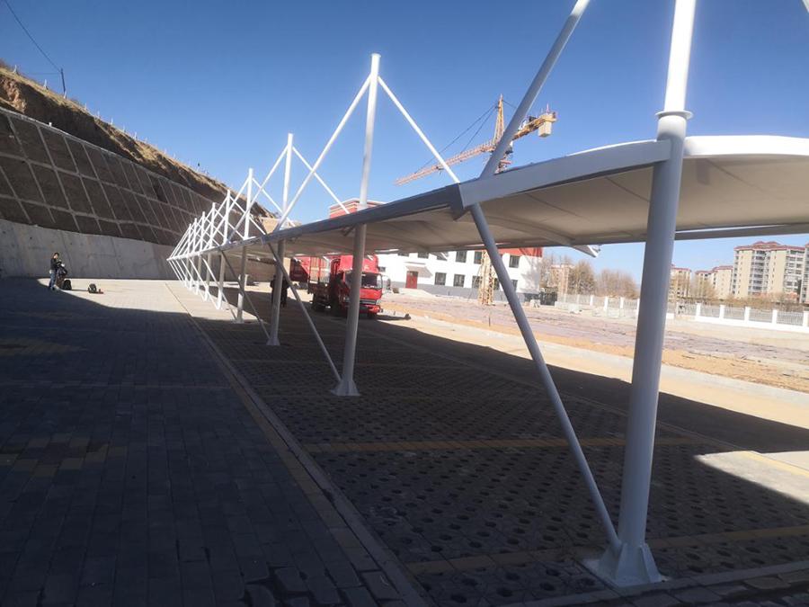 甘南自行车停车棚膜结构