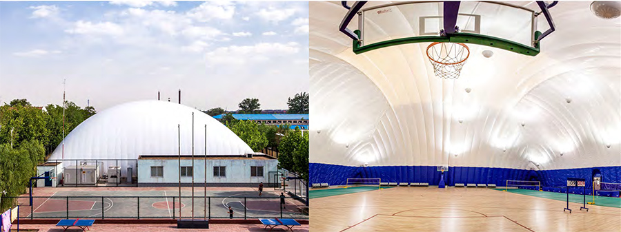 气膜篮球馆,甘肃气膜