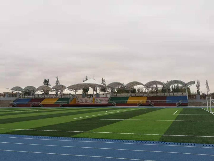 永昌县第四小学体育场看台膜结构