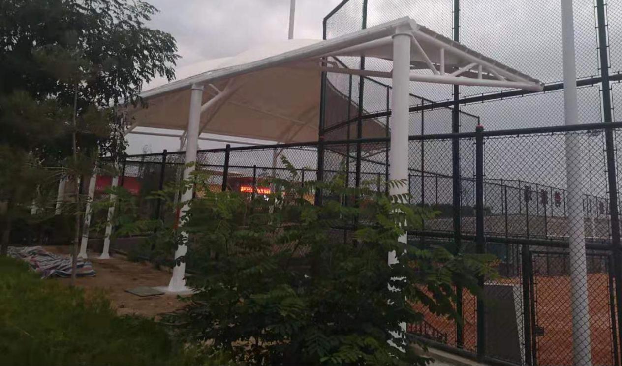 兰州体育学校垒球场膜结构工程