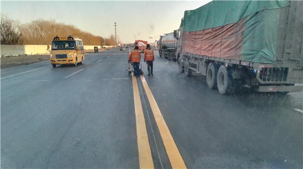 智迈交通道路划线施工案例