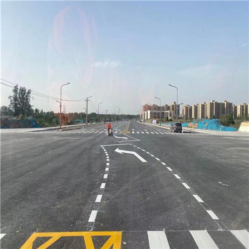 信阳道路划线案例