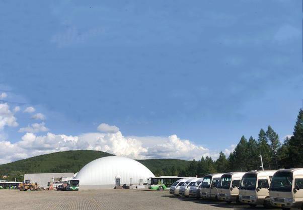阿尔山国家森林公园气膜车库
