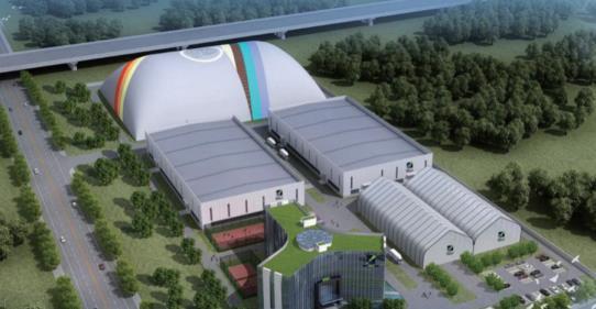 宣化电厂煤场封闭气膜项目