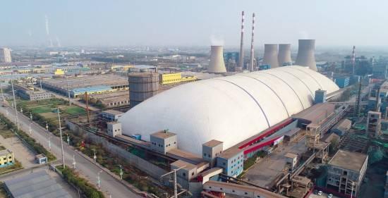 世界面积.大气膜煤棚建筑——山东临沂中盛气膜大棚煤场封闭项目