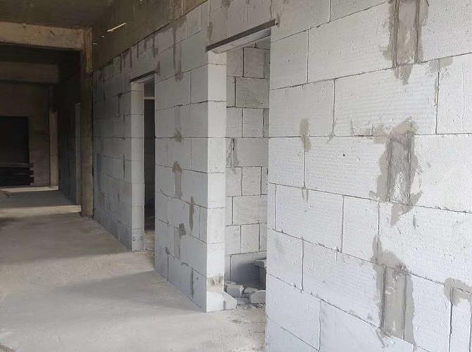 陕西轻质砖隔墙施工场景